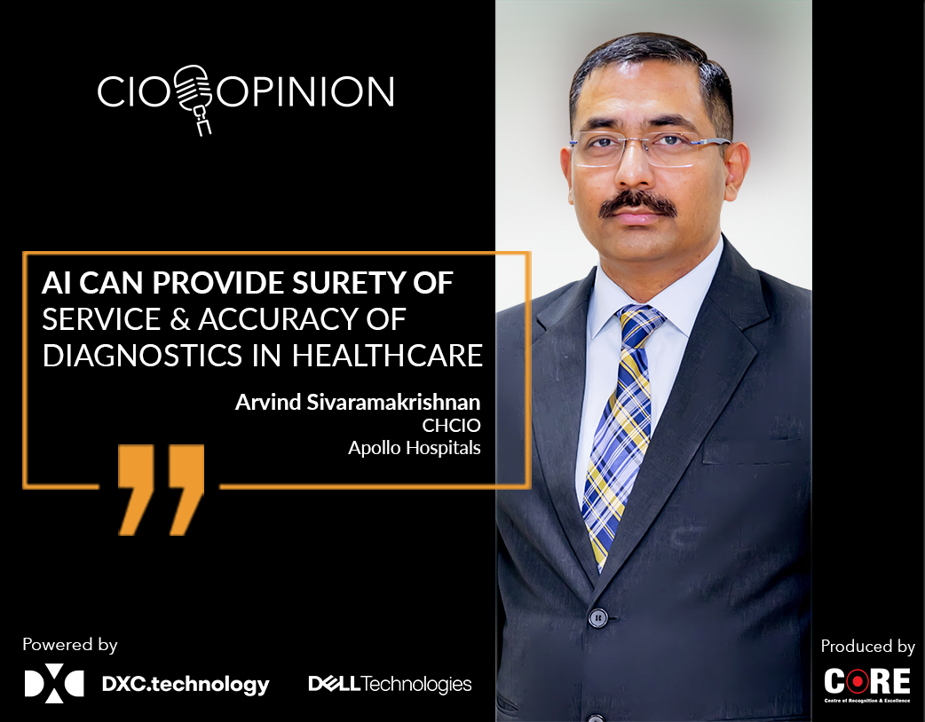 AI can provide surety of service and accuracy of diagnostics in healthcare