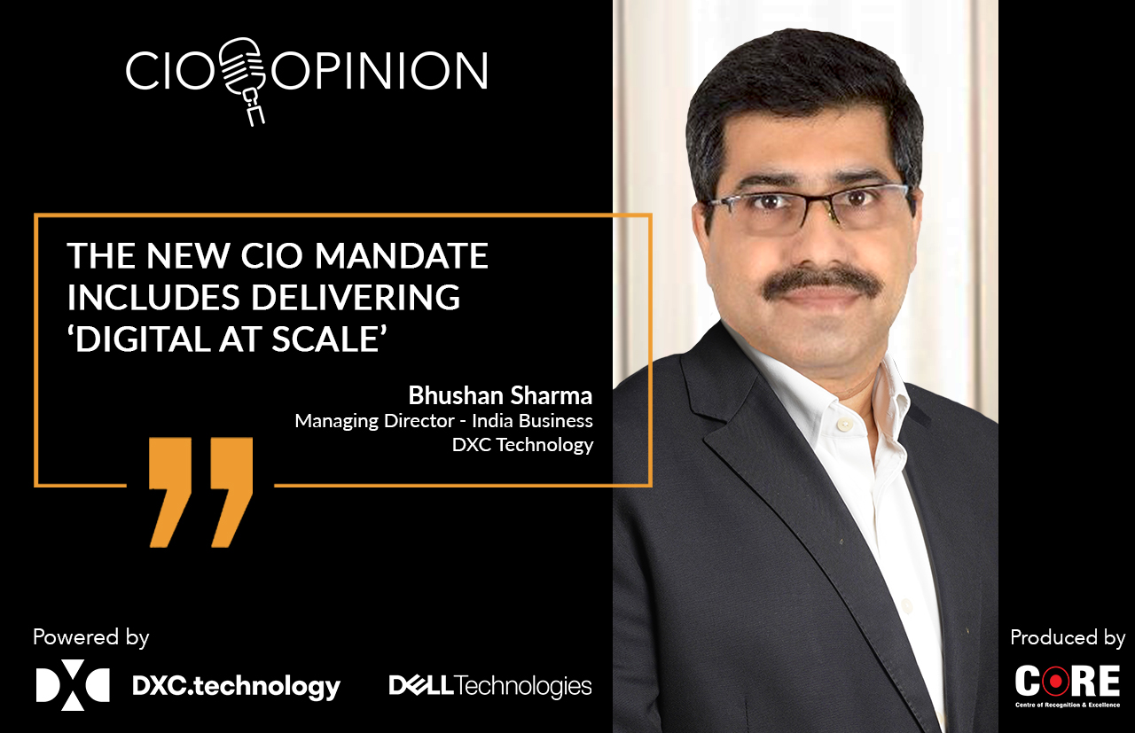 The new CIO mandate includes delivering 'Digital at scale'