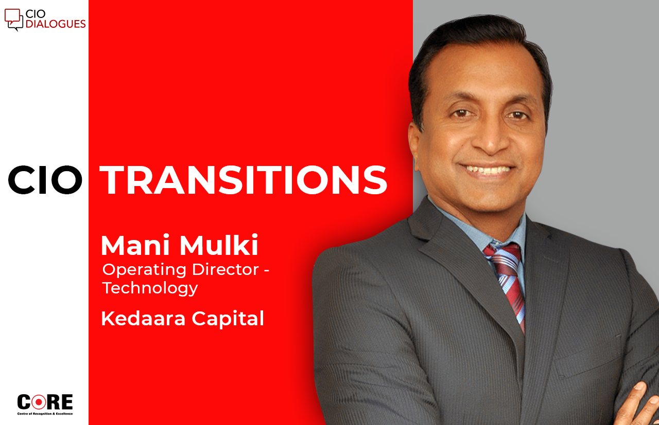 Former Tata Capital CIO Mani Mulki joins Kedaara Capital